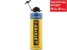 100% CLEANER очиститель монтажной пены, 500мл, STAYER (41139)
