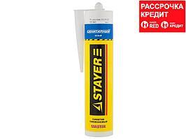 Герметик санитарный силиконовый STAYER 41215-0_z01, MASTER, для помещений с повышенной влажностью, белый, 260