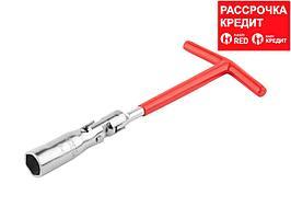Ключ свечной DEXX с шарниром, 16мм (27507-16)