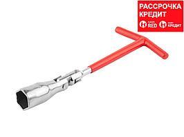 Ключ свечной DEXX с шарниром, 21мм, 27507-21