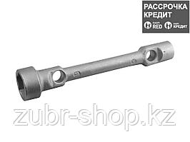 Ключ торцовый СИБИН двухсторонний, оцинкованный, /ГАЗ/, 24х38мм, 2718-24-38