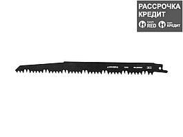 """Полотно STAYER """"PROFI"""" S1531L к саб эл.ножов Cr-V,спец закал зубья,быстр грубый рез,тв. и мягк. древ,обрезка деревьев (159456)"""