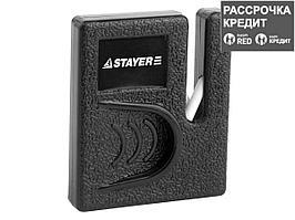 """Точилка STAYER """"MASTER"""", для ножей, компактная, керамическая рабочая часть (47511)"""