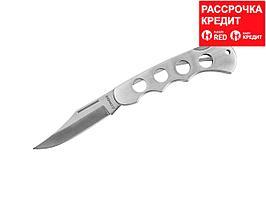Нож STAYER складной, цельнометаллическая облегченная рукоятка, большой (47613_z01)