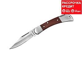 Нож STAYER складной с деревянными вставками, средний (47620-1_z01)