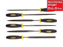 """Набор STAYER """"PROFI"""" Надфили с двухкомпонентной ручкой, 100мм, 6шт (16010-H6_z01)"""