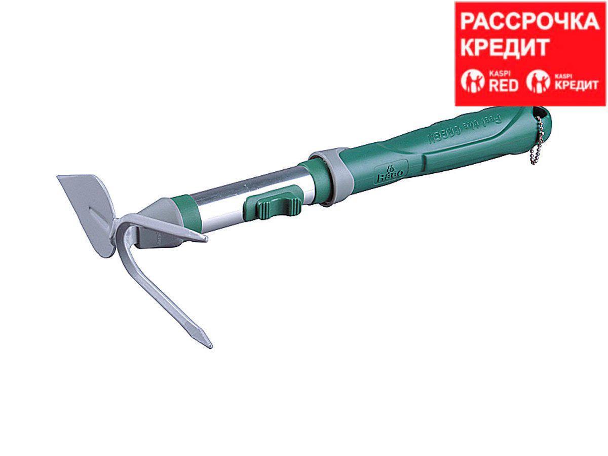 Мотыжка садовая RACO, лезвие лепесток / 2 зубца, коннекторная система, 33см (4205-53518)