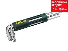 Набор KRAFTOOL: Ключи имбусовые длинные, Cr-Mo сталь, держатель-рукоятка, HEX 2-10мм, 8 пред (27430-2_z01)