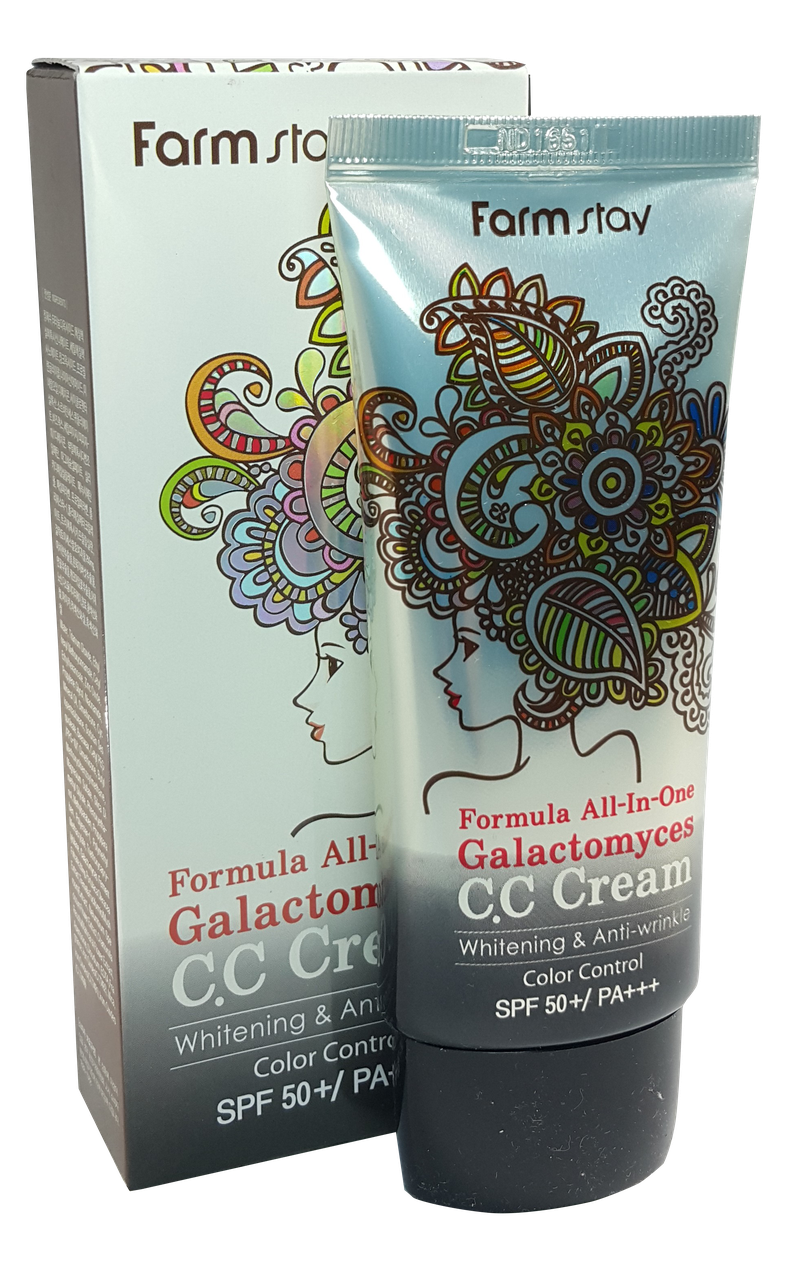 FarmStay All-in-one Galactomyces CC Сream Тональный СС-крем 4 в 1 для лица 50 мл