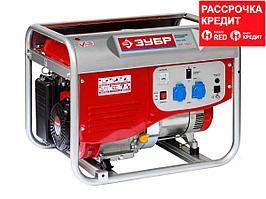 Бензиновый электрогенератор ЗУБР ЭСБ-4000, двигатель 4-х тактный, ручной пуск, 220/12В, 4000Вт