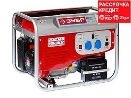 Бензиновый генератор с электростартером, 4000 Вт, ЗУБР (ЗЭСБ-4000-Э)