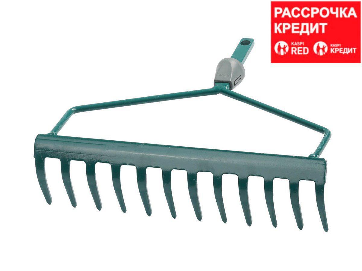 Грабли прямые RACO 4230-53808, MAXI, 12 зубцов, с быстрозажимным механизмом, 300 мм