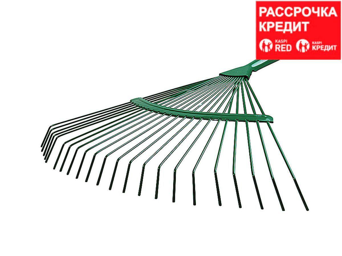 Грабли веерные RACO, 22 круглых зубца, эпоксидное покр., 450мм (4231-53/737)
