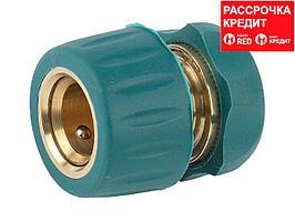 """RACO """"PROFI-PLUS"""" 1/2"""", cоединитель быстросъемныq для шланга, из латуни с TPR (4244-55107B)"""