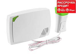 Звонок дверной электрический СВЕТОЗАР 58036, АККОРД, с кнопкой, 16 мелодий, 2 м, 3АА