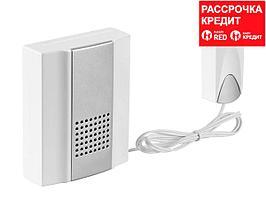 Звонок дверной электрический СВЕТОЗАР 58037, НОТА, с кнопкой IP44, 25 мелодий, 2 м, 3 АА