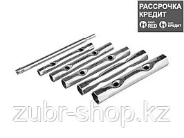 Набор Ключи STAYER трубчатые 8 - 17 мм, 6 предметов (2719-H6)