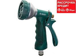 RACO 354C 6 режимов, курок сзади, пистолет поливочный металлический с TPR (4255-55/354C-18)