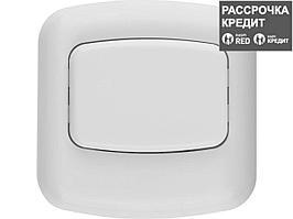 Кнопка СВЕТОЗАР для звонка, цвет белый, 220В (58301)