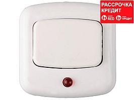 Кнопка СВЕТОЗАР для звонка, с индикацией включения, цвет белый, 220В (58303)