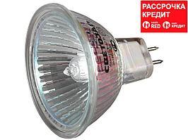 Лампа галогенная СВЕТОЗАР с защитным стеклом, цоколь GU5.3, диаметр 51мм, 20Вт, 12В (SV-44722)