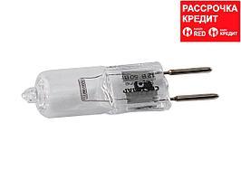 Лампа галогенная, СВЕТОЗАР, капсульная, прозрачное стекло, цоколь GY6.35, диаметр 12мм, 50Вт, 12В, SV-44775-T