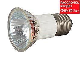 Лампа галогенная, СВЕТОЗАР, с защитным стеклом, цоколь E27, диаметр 51мм, 35Вт, 220В, SV-44843