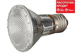 Лампа галогенная, СВЕТОЗАР, с защитным стеклом, цоколь E27, диаметр 65мм, 50Вт, 220В, SV-44855