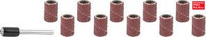 STAYER d=6,25 мм, Р 80/120, цилиндр шлифовальный абразивный, с оправкой, 10шт (29919-H10)