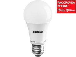 Лампа светодиодная, СВЕТОЗАР, LED technology, цоколь E27(стандарт), теплый белый свет (2700К), 220В, 10Вт (75), 44505-75_z01