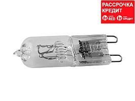 Лампа галогенная СВЕТОЗАР капсульная, прозрачное стекло, цоколь G9, диаметр 13мм, 60Вт, 220В (SV-44896-T)
