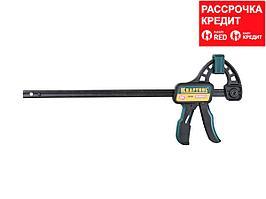 """Струбцина """"EcoKraft"""" ручная пистолетная, KRAFTOOL 32226-30, пластиковый корпус, 300/500мм, 150кгс (32226-30)"""