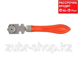 Стеклорез роликовый, 3 режущих элемента, с пластмассовой ручкой (3361)