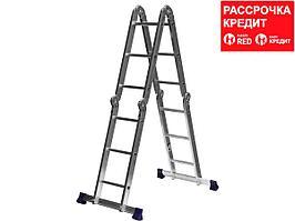 СИБИН ЛТ-43 лестница-трансформер, 4x3 ступени, алюминиевая. (38851)