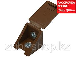 Уголок мебельный с шурупом, цвет дуб, 4,0x15мм, 4шт, ЗУБР (4-308256-1)