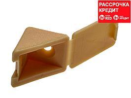 Уголок мебельный с шурупом, цвет сосна, 4,0x15мм, 4шт, ЗУБР (4-308256-4)