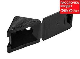 Уголок мебельный с шурупом, цвет черный, 4,0x15мм, 4шт, ЗУБР (4-308256-7)