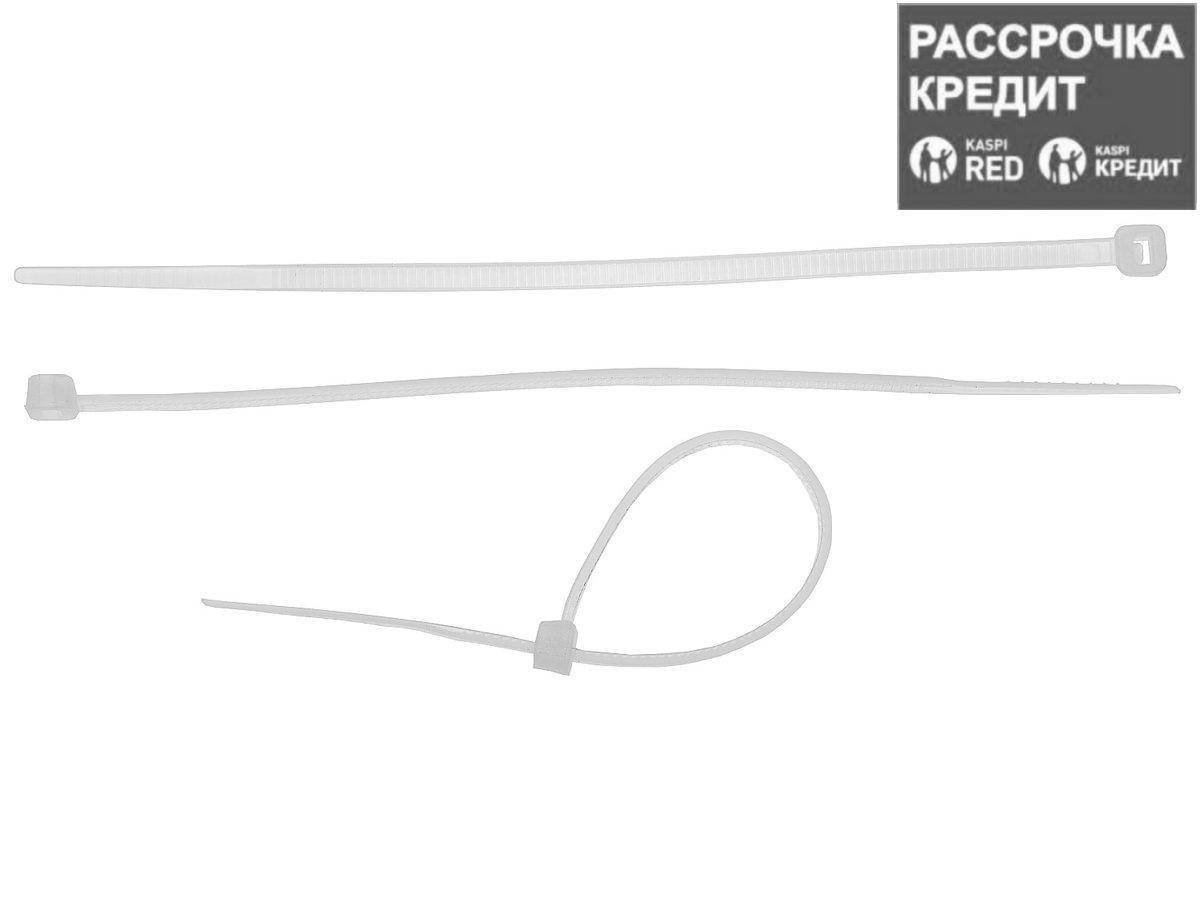 Кабельные стяжки белые КС-Б2, 4.8 х 500 мм, 25 шт, нейлоновые, ЗУБР Профессионал (4-309017-48-500)