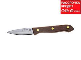 """Нож LEGIONER """"GERMANICA"""" овощной, тип """"Line"""" с деревянной ручкой, нерж лезвие 80мм (47831-L_z01)"""