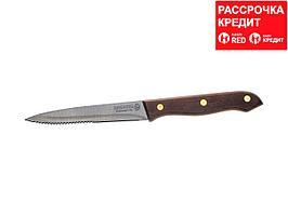 """Нож LEGIONER """"GERMANICA"""" для стейка, с деревянной ручкой, лезвие нерж 110мм (47834_z01)"""