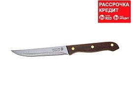 """Нож LEGIONER """"GERMANICA"""" универсальный, тип """"Line"""" с деревянной ручкой, нерж лезвие 110мм (47836-L_z01)"""