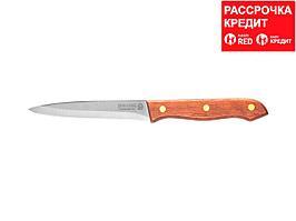 """Нож LEGIONER """"GERMANICA"""" универсальный, тип """"Solo"""" с деревянной ручкой, нерж лезвие 110мм (47837-S_z01)"""