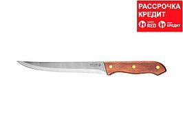 """Нож LEGIONER """"GERMANICA"""" нарезочный, тип """"Line"""" с деревянной ручкой, нерж лезвие 180мм (47840-L_z01)"""
