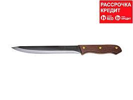 """Нож LEGIONER """"GERMANICA"""" нарезочный, тип """"Solo"""" с деревянной ручкой, нерж лезвие 180мм (47841-S_z01)"""