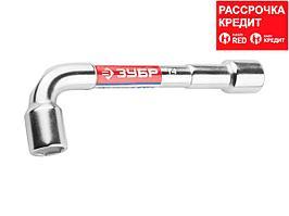 Ключ торцовый ЗУБР МАСТЕР двухсторонний L-образный, проходной, 14мм, 27185-14