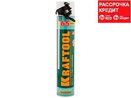 Пена монтажная адаптерная KRAFTOOL 41175, KRAFTFLEX 65,профессиональная,полиуретановая, всесезонная, SVS, 750 мл