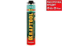 Пена монтажная профессиональная KRAFTOOL 41186_z01, KRAFTFLEX PREMIUM PRO B1, полиуретановая, для монтажного пистолета, всесезонная, SVS, 750 мл