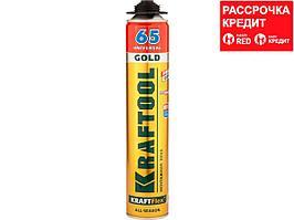 Пена монтажная профессиональная KRAFTOOL 41194, Goldkraft GOLD PRO 65, полиуретановая, для монтажного пистолета, всесезонная, SVS, 850 мл