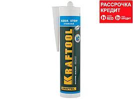 """Герметик KRAFTOOL KRAFTSeal GX107 """"AQUA STOP"""" силиконовый стекольный, прозрачный, 300мл (41256-2)"""