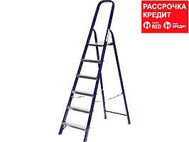 Лестница-стремянка СИБИН стальная, 6 ступеней, 124 см (38803-06)
